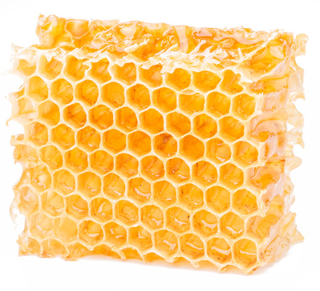 honeycomb: Honeycomb on a white background.  High-quality picture. Stock Photo
