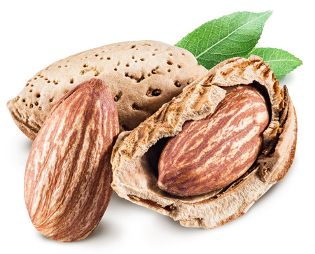 outs: Almond nuts. Stock Photo