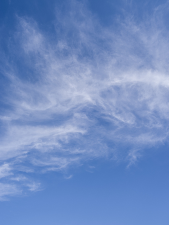 cirrus: Cirrus clouds in the blue sky. Stock Photo