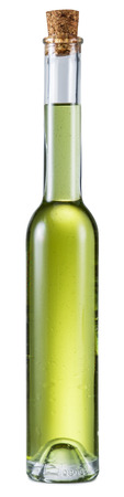 extra virgin: Bottle of extra virgin olive oil on a white background. File contains clipping paths. Stock Photo
