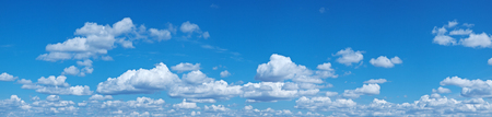beautiful heaven: White heap clouds in the blue sky at the summer day.