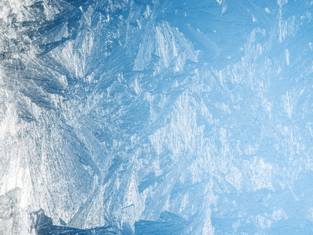 thawed: Ice crystals on the surface of the window.