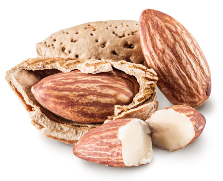 clipping: Almond nuts. File contains clipping paths. Stock Photo