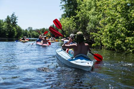 float: Rafting on the Vorskla River.