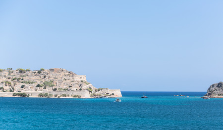 lepra: La isla de Spinalonga (Kalydon) en el noreste de Creta.