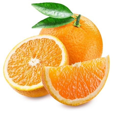 fruit orange: Fruto de naranja y rodajas.