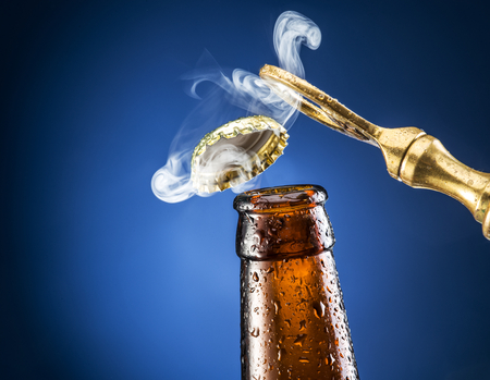 output: Opening of beer cap with the gas output.