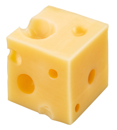 cheez: Cube of Swiss cheese.