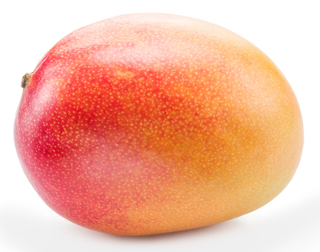 drupe: Mango fruit isolated on the white background. The picture of high quality. Stock Photo