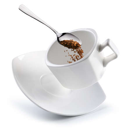 instant coffee: Preparation of instant coffee. Conceptual picture.