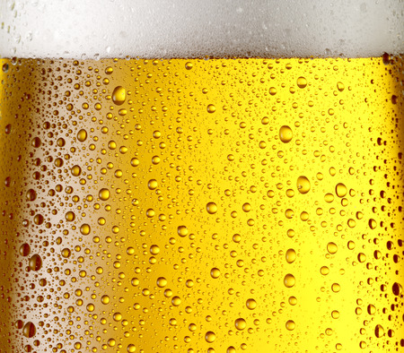 Misted glass of beer. Close up shot.