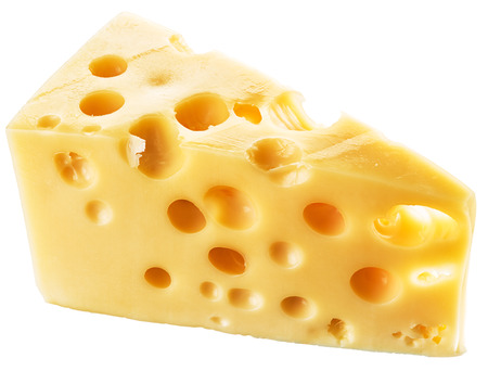 cheez: Piece of Swiss cheese. File contains clipping paths.