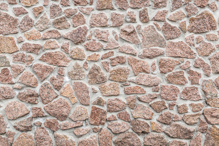 fense: Stone wall (fense). Close-up picture of bricks. Stock Photo