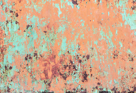 wall paint: Crackle of paint on the metal background. Stock Photo