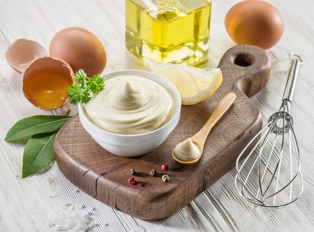 mayonnaise: Natural mayonnaise ingredients and the sauce itself.