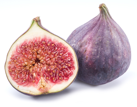 purple fig: Ripe fig fruits on the white background.