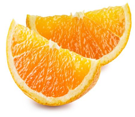 fruit orange: Dos segmentos de la fruta de naranja. El fichero contiene trazados de recorte.