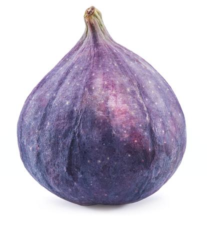 Ripe fig fruit on the white background. Stock Photo