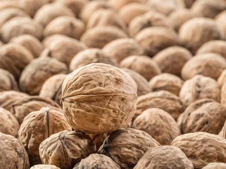 dozens: Walnuts. Food background.