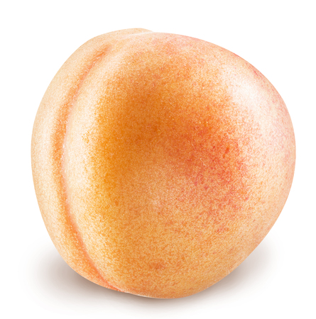 Ripe apricot fruit with water drops. Clipping paths.
