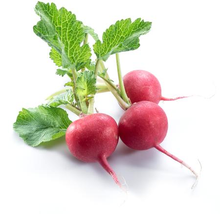 白い背景に赤いサラダが redish。 写真素材