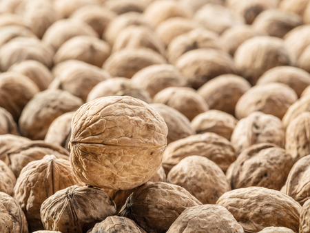 Walnuts. Food background.