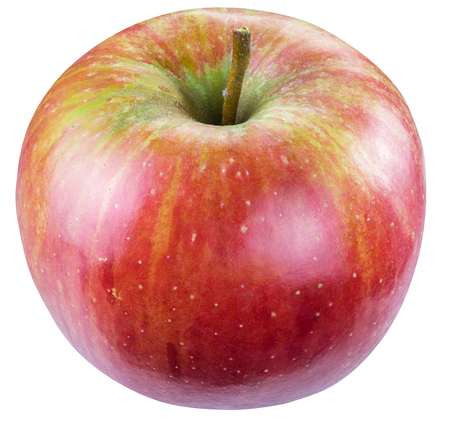 Ripe red apple. Clipping paths.