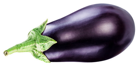 Aubergine or eggplant isolated on white background. Imagens