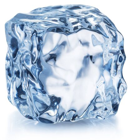 Ice cube. Macro shotof one ice cube. File contains clipping path.