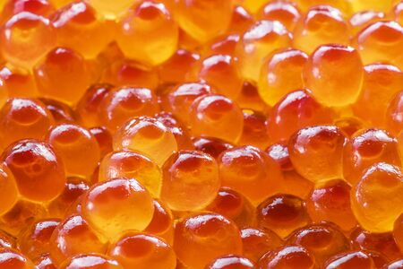 Red caviar close-up. Food background. Macro picture.