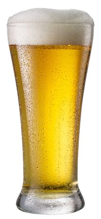 Beer glass isolated on a white background.