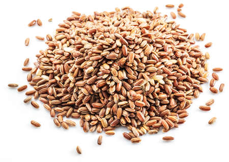 Brown rice heap - whole grain rice with outer husk