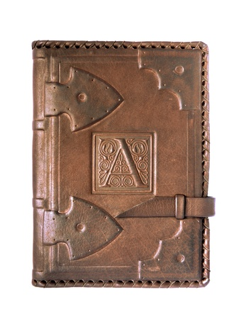 old diary: leather cover of the diary