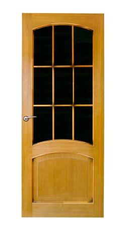 Wood door with glass Stock Photo - 16059043