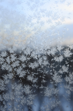 Frosty pattern on glass