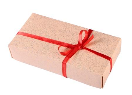 Gift box isolated on white Stock Photo - 17702100