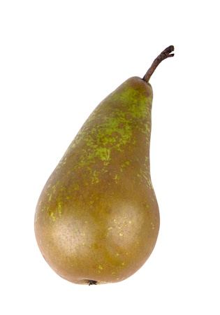 Green pear isolated on the white