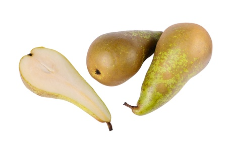 Two and a half pears isolated on the white photo