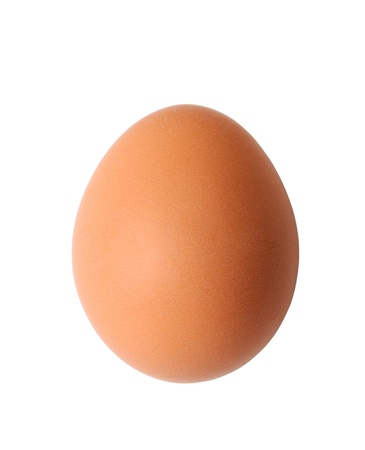 Brown egg isolated on white Stock Photo