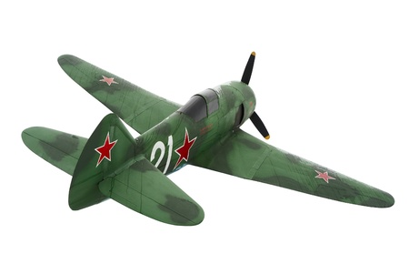 Old Soviet military aircraft LA-7 fighter aircraft of World War II