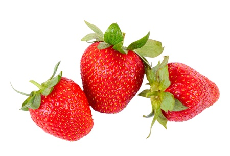 Fresh strawberrys isolated on white