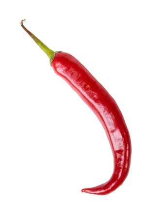 red chili pepper: Red chili pepper isolated on white Stock Photo