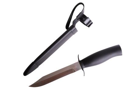 scheide: Messer mit Scheide isoliert auf den wei�en Hintergrund
