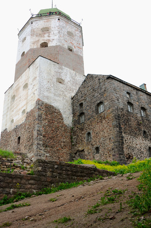 Vyborg, Russia - June 10, 2014: Vyborg Castle (Viipurin linna), a Swedish built medieval fortress around which the town of Viborg (today in Russia) evolved.