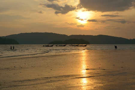 Low tide in the Andaman Sea Stock Photo