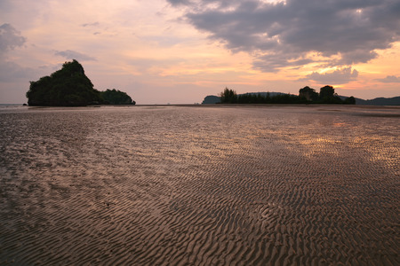 tide: Low tide in the Andaman Sea Stock Photo