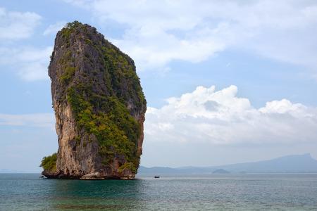 andaman sea: Beautiful rock in the Andaman Sea Stock Photo