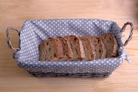breadbasket: Bread box with chunks of rye white bread