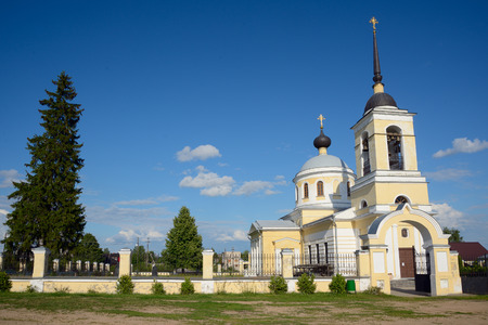 russian orthodox: Old russian orthodox church in the village