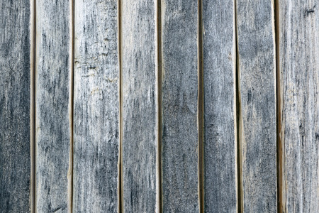 Close up of grey wooden fence panels.